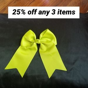 New Big lime green hair bow accessorie clip